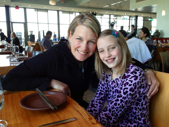 With Lucy at The Slanted Door restaurant in San Francisco celebrating her 10th birthday. Raising the next Life Coach is big fun for me.